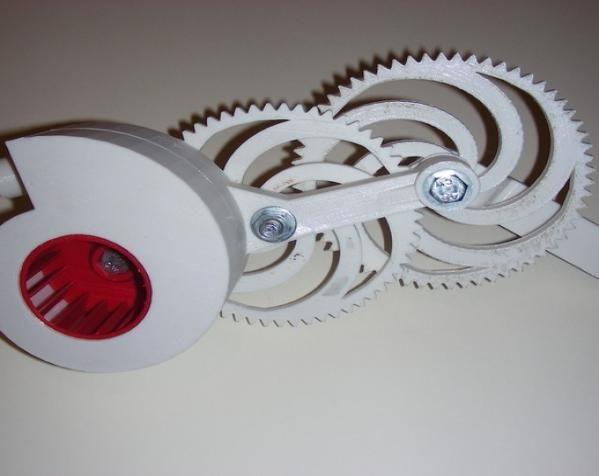渐开线鼓风机 3D打印模型渲染图