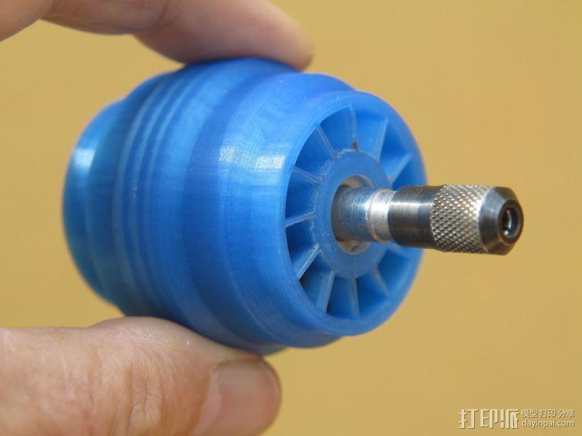 涡轮旋转工具配件 3D打印模型渲染图