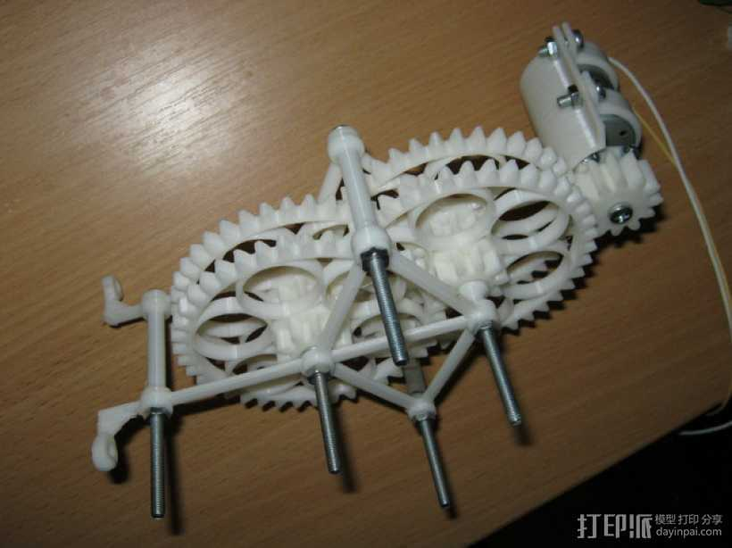 减速齿轮(1:256) 3D打印模型渲染图