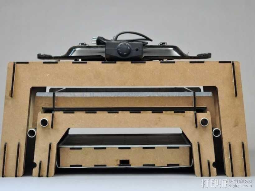 热压成型机 3D打印模型渲染图