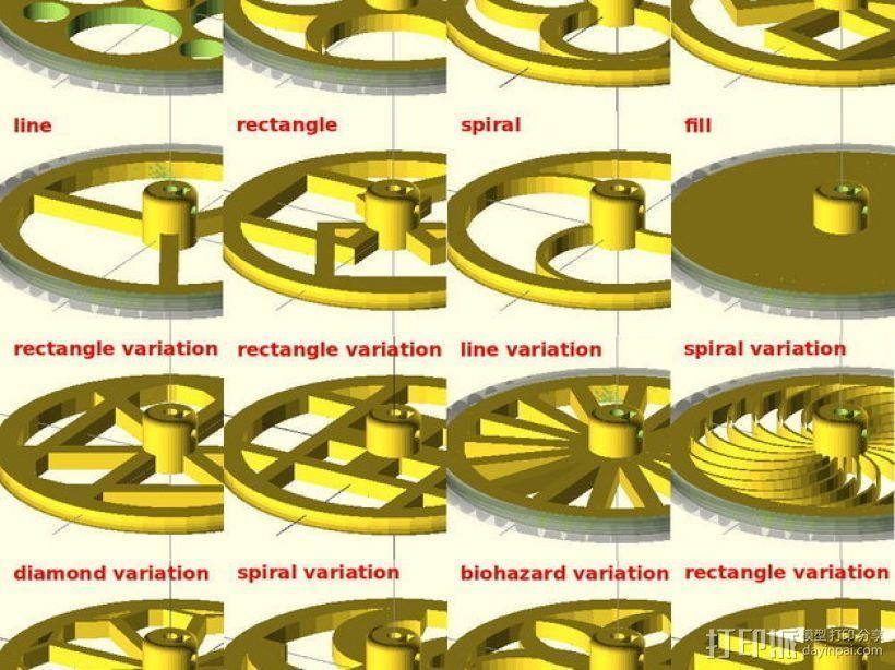 花式轮子 3D打印模型渲染图