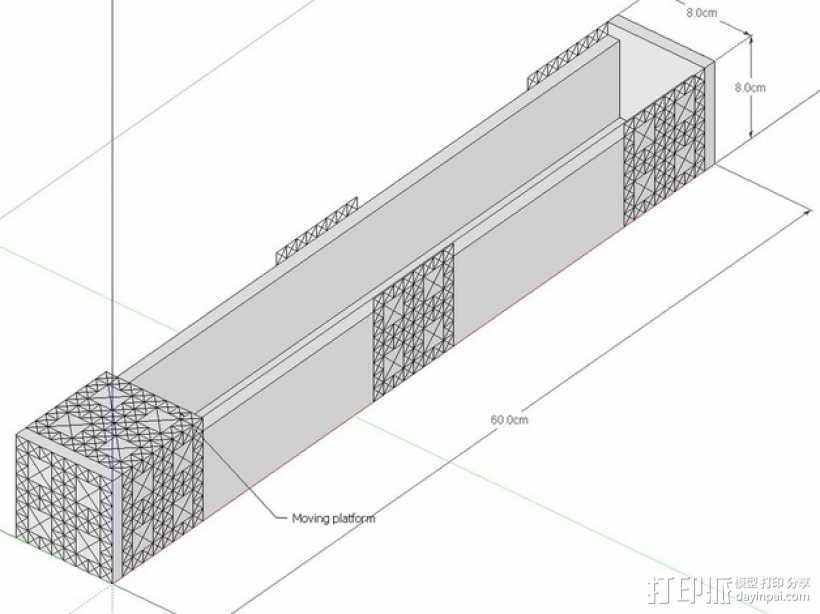 数控机床系统组件 3D打印模型渲染图