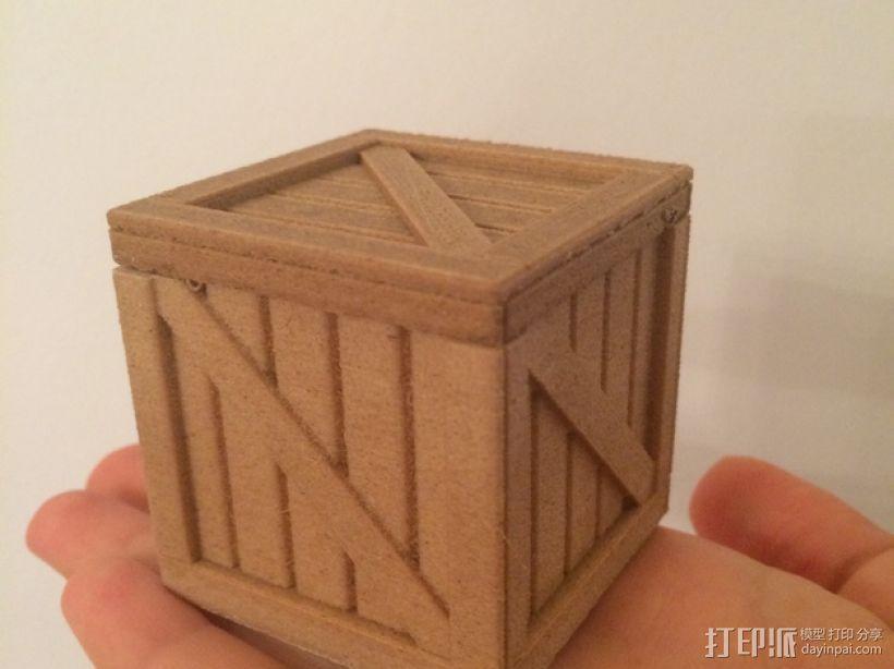 有盖子的小板条箱 3D打印模型渲染图