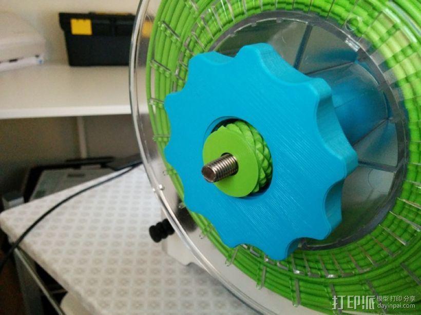 滚花式旋钮螺母 3D打印模型渲染图
