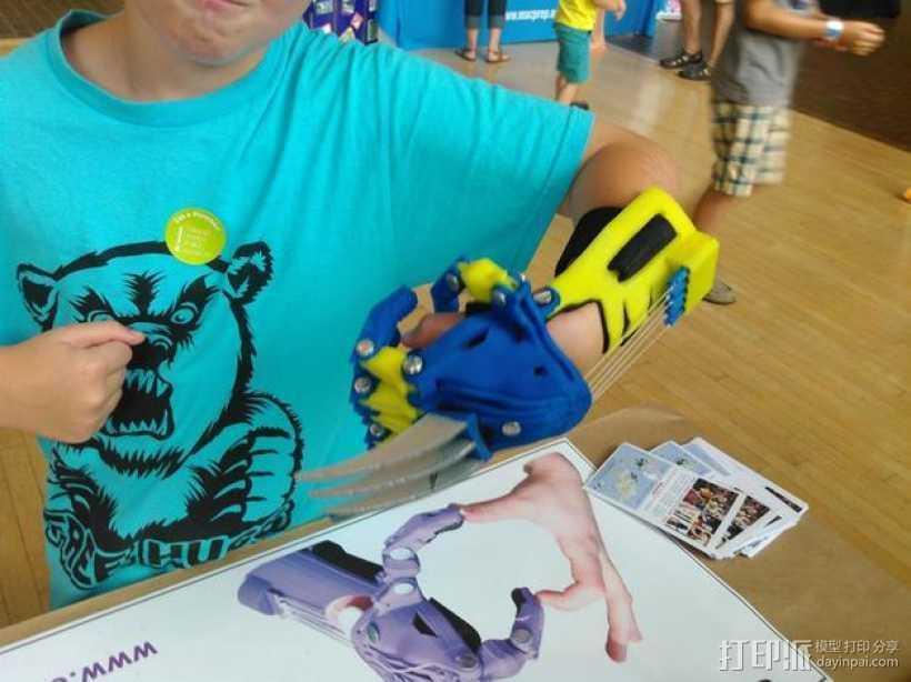 狼爪 假肢 3D打印模型渲染图