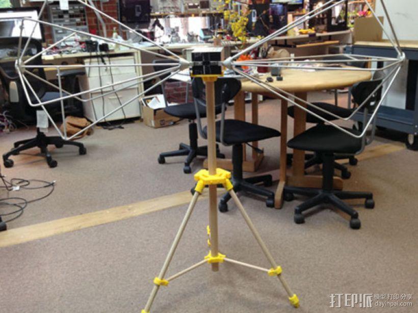 三脚架 3D打印模型渲染图