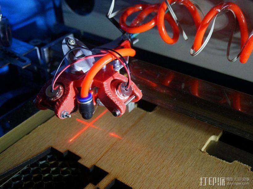 双线激光笔 笔架 3D打印模型渲染图