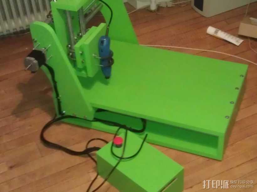 数控机床 3D打印模型渲染图