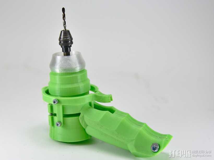 可控制转速的打孔器 3D打印模型渲染图