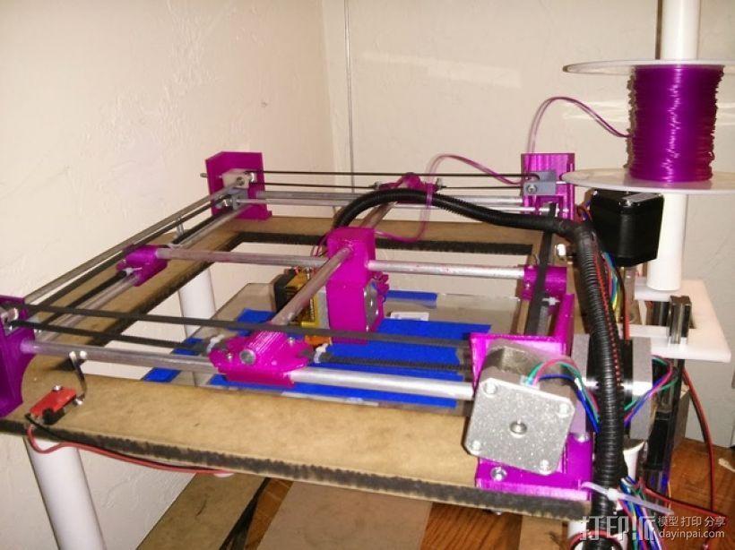 XY轻型工作台 3D打印模型渲染图