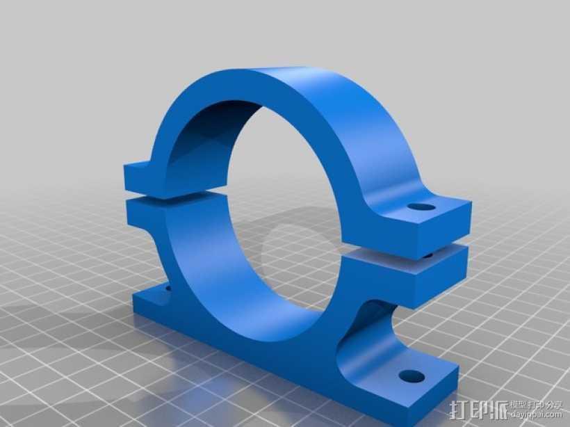 AndyMark CIM发动机架 3D打印模型渲染图
