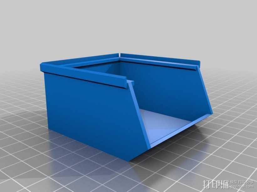 可堆叠储物盒 3D打印模型渲染图