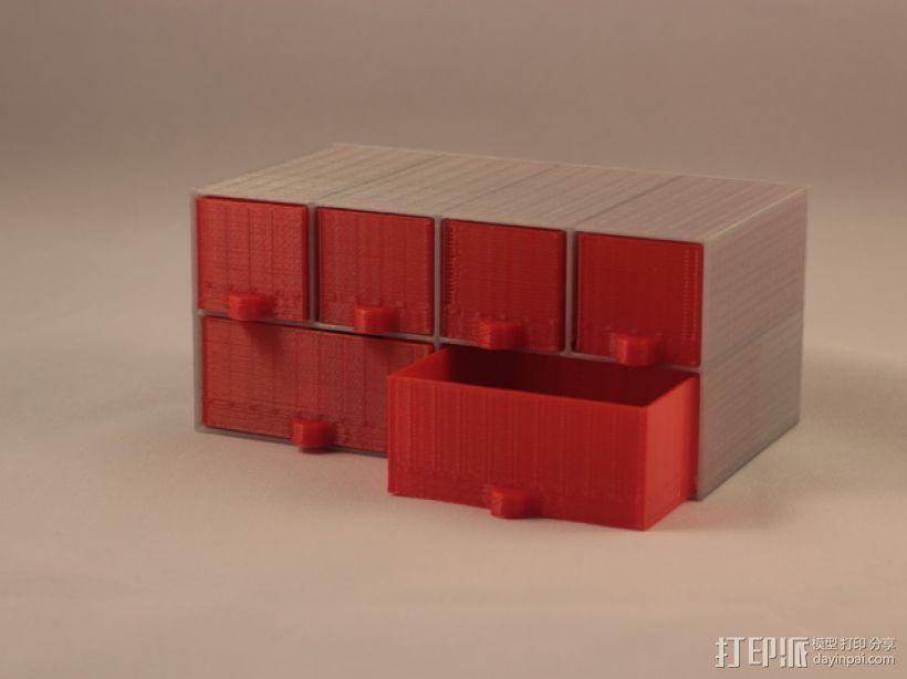 定制化迷你储物抽屉 3D打印模型渲染图
