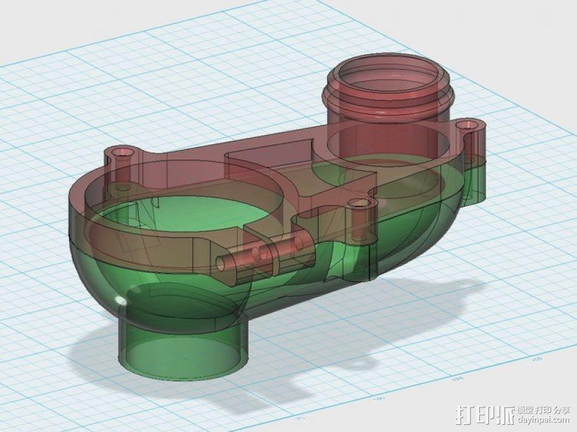 数控雕刻机真空配适器 3D打印模型渲染图