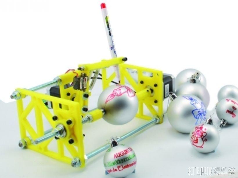 SphereBot画球机 3D打印模型渲染图
