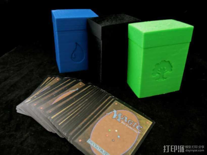 万智牌MTG卡片收纳盒 3D打印模型渲染图