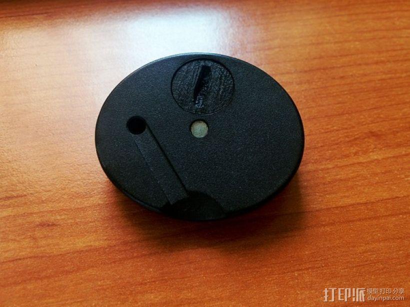 圆形电池盖 3D打印模型渲染图