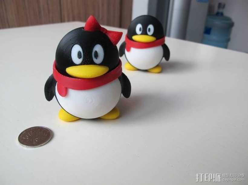 宠物企鹅 3D打印模型渲染图