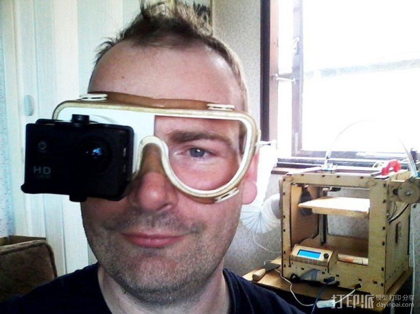 便携式GoPro相机架 3D打印模型渲染图