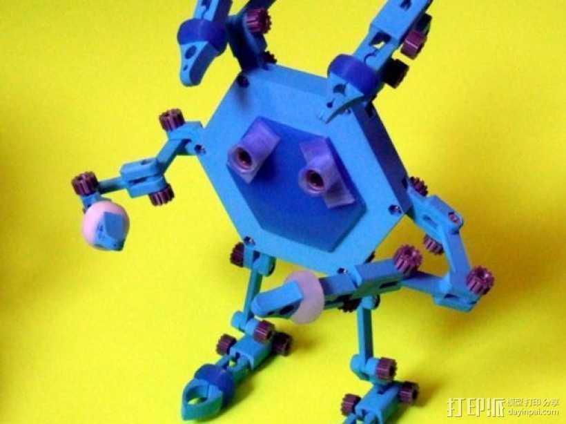 迷你机器人帮手 3D打印模型渲染图