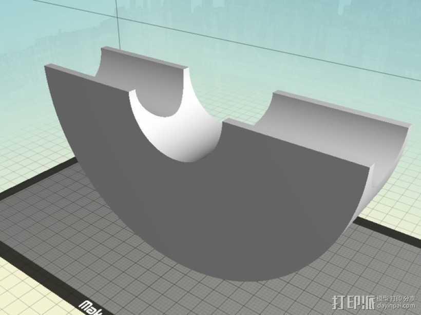 吉他琴颈 支架 3D打印模型渲染图