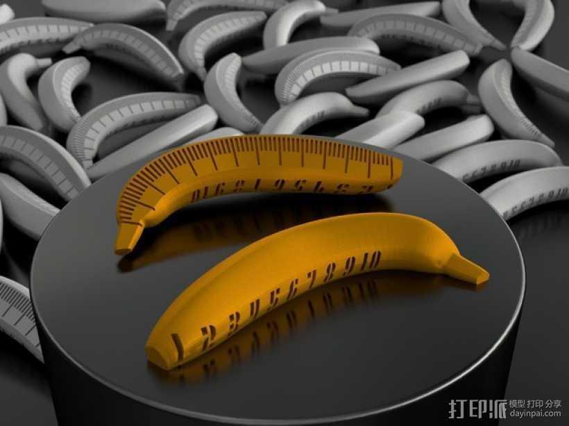 香蕉测量器 3D打印模型渲染图