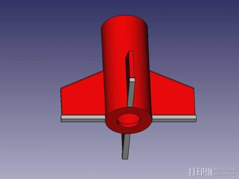 DIY火箭发射器  3D打印模型渲染图