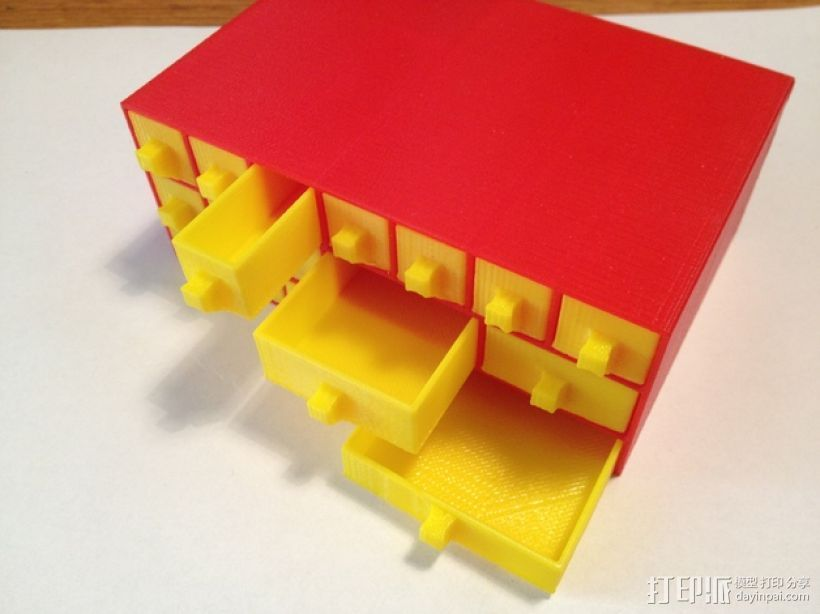 物品收纳柜 3D打印模型渲染图