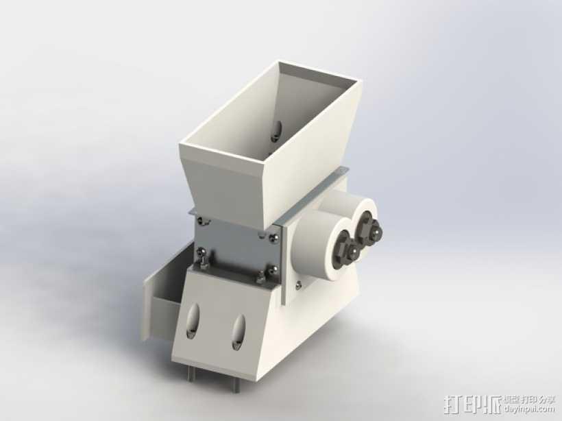 迷你碎纸机外壳 3D打印模型渲染图