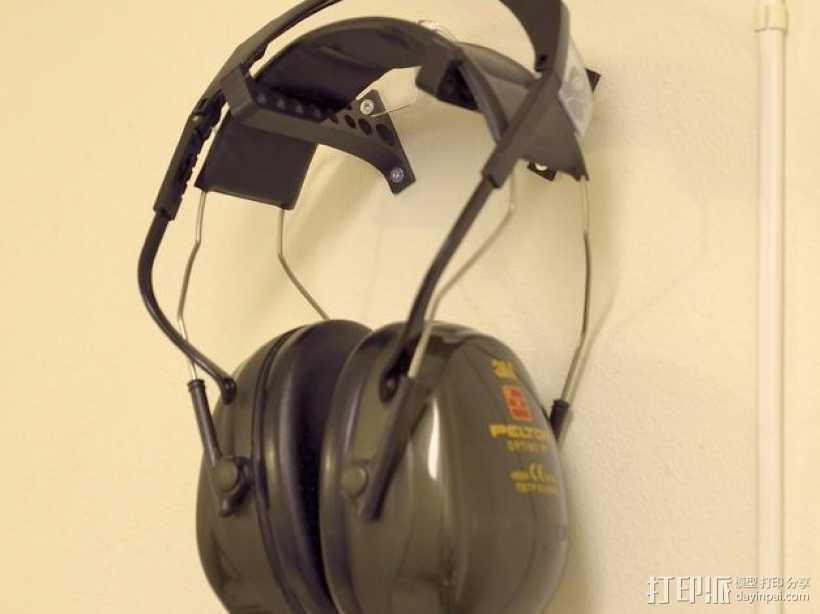 耳罩收纳架 3D打印模型渲染图