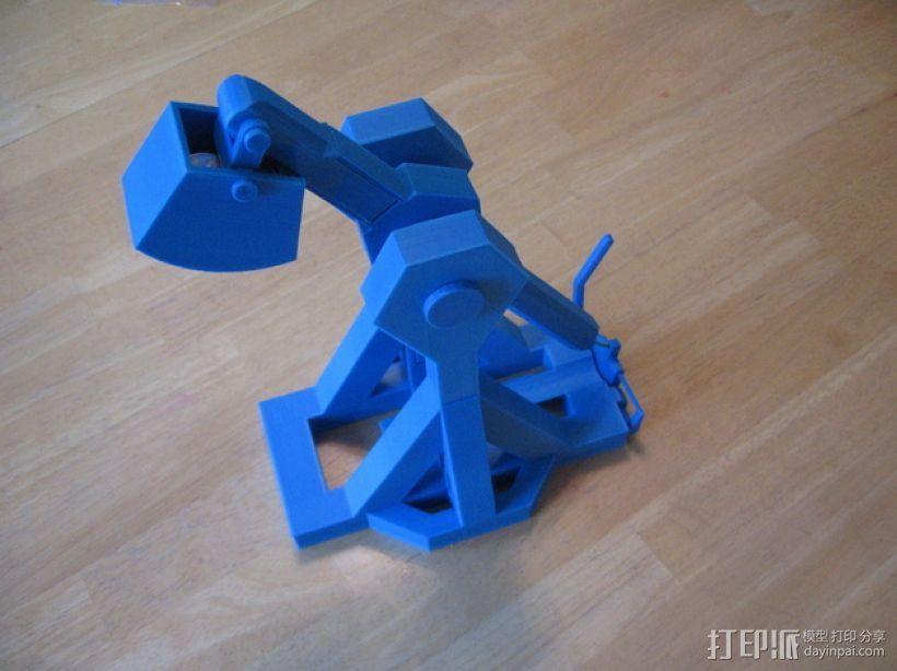 重力抛石机 3D打印模型渲染图