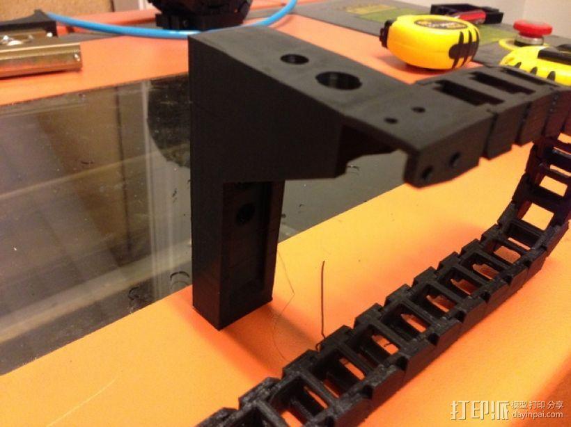 激光切割机X轴安装固定链 3D打印模型渲染图