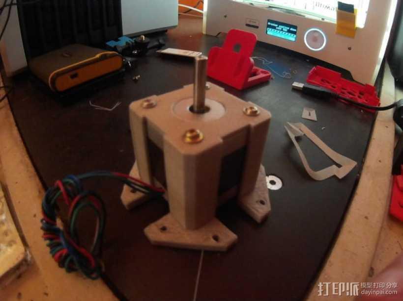 Nema 17步进电机保护套 3D打印模型渲染图