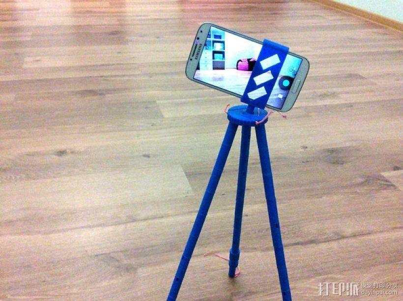 手机 三脚架 3D打印模型渲染图