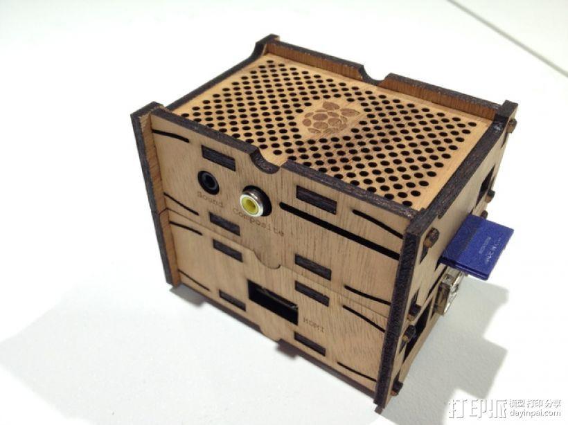 树莓派设备外壳 3D打印模型渲染图