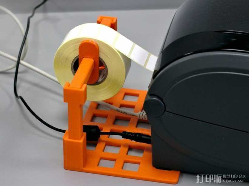标签卷固定架 3D打印模型渲染图