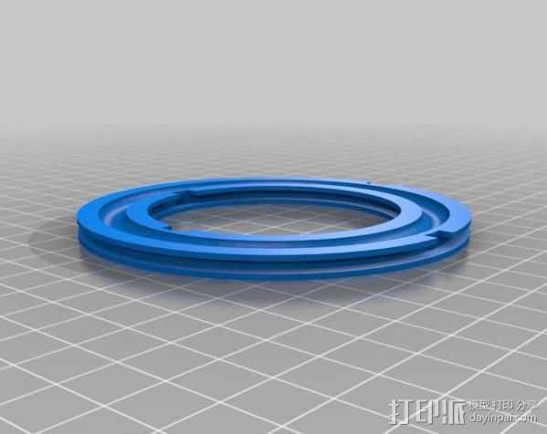 轴承转台 3D打印模型渲染图