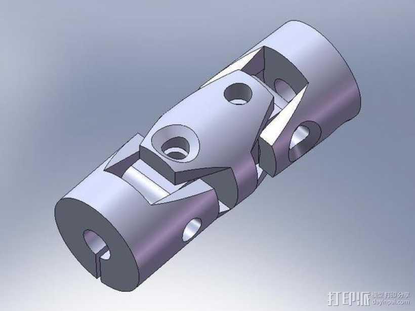 耦合器/万向节 3D打印模型渲染图