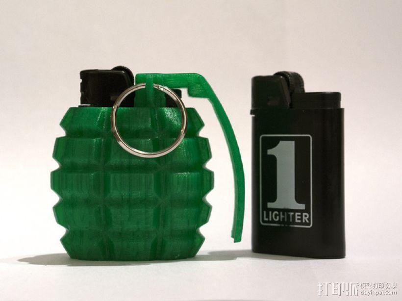 手榴弹形打火机套  3D打印模型渲染图