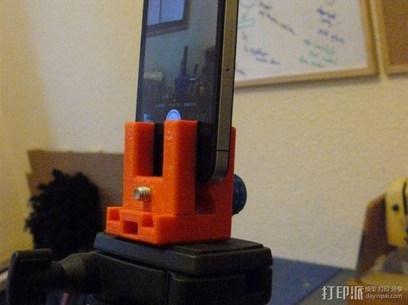 三脚架 手机夹 3D打印模型渲染图