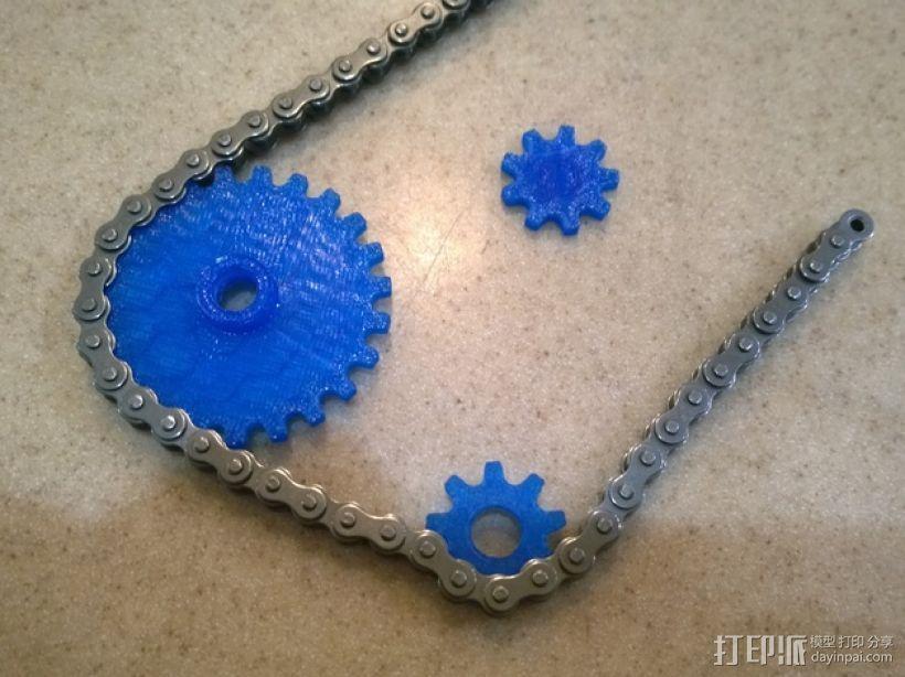 模块化滚子链齿轮 3D打印模型渲染图