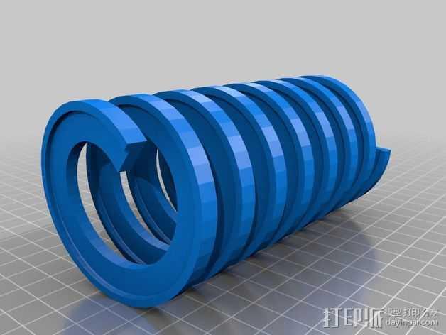 弹簧 测试版 3D打印模型渲染图