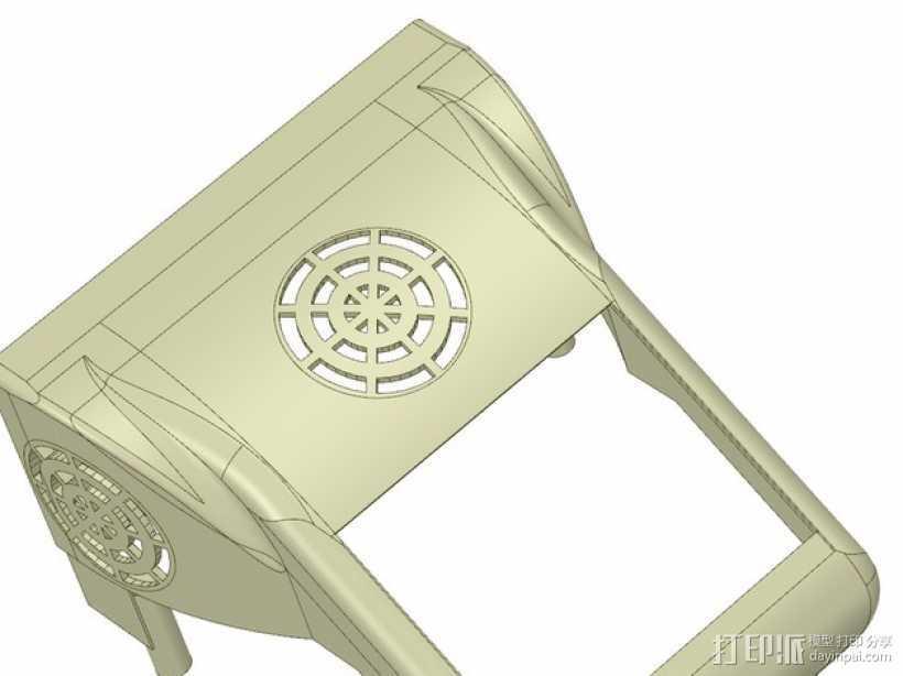 冷却风扇 风扇罩 3D打印模型渲染图