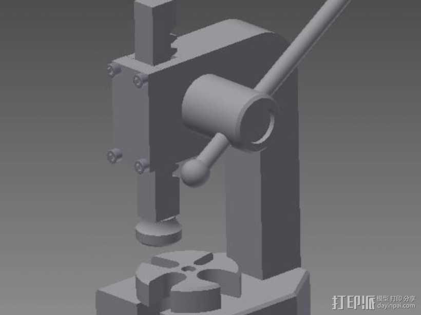 手扳压机 3D打印模型渲染图