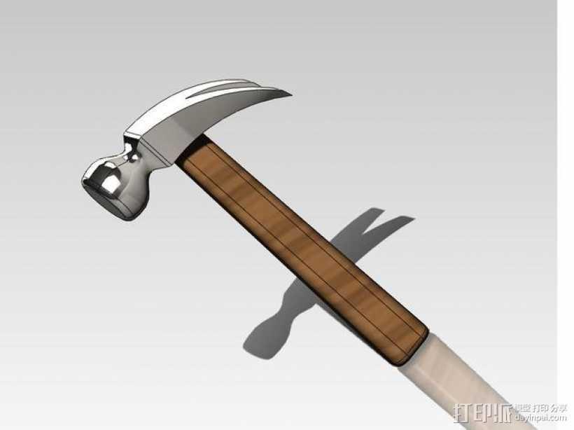 羊角锤/木工锤 3D打印模型渲染图