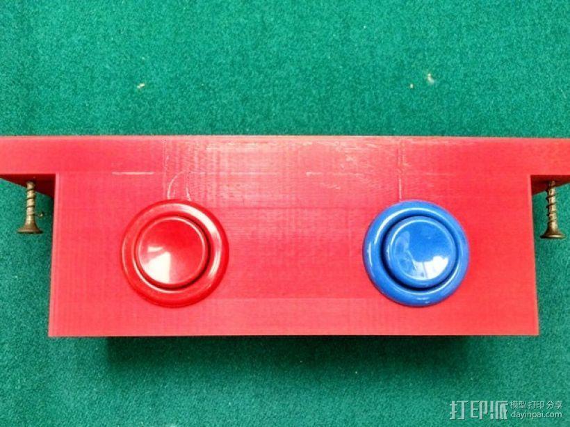 推圆盘游戏 计分按钮底座 3D打印模型渲染图