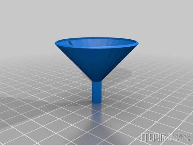 简易漏斗 3D打印模型渲染图