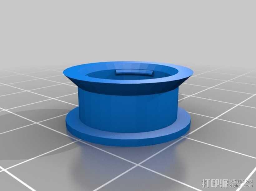 参数化空转轮 3D打印模型渲染图