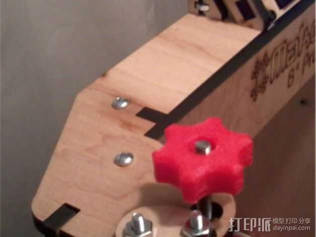 M5螺纹杆旋钮 3D打印模型渲染图