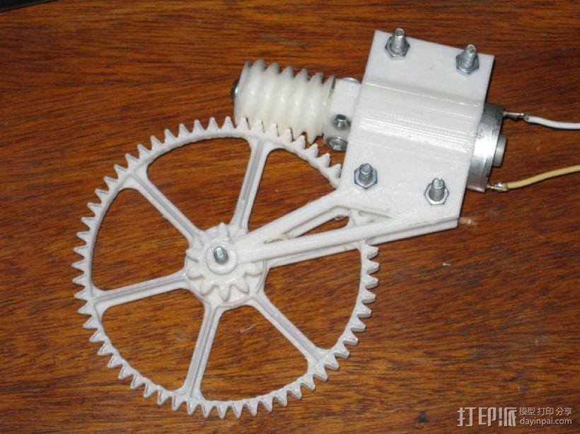 齿轮减速器  3D打印模型渲染图